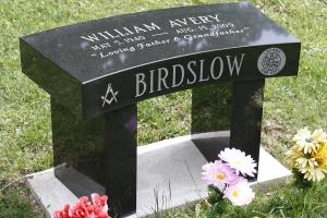 Birdslow black granite bench.jpg