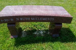 McClements-red-bench.JPG