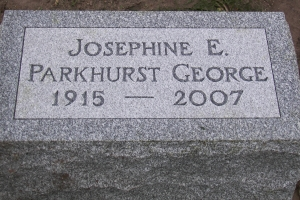 George cemetery pillow marker.jpg