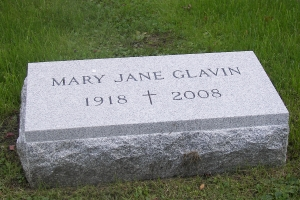 Glavin cemetery hickey marker.JPG