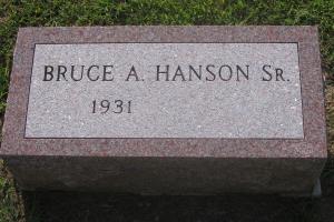 Hanson-gravestone