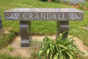 Crandall-simple-bench-for-cremation-burials