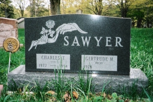 Granite-cemetery-cremains-memorial-for-Sawyer