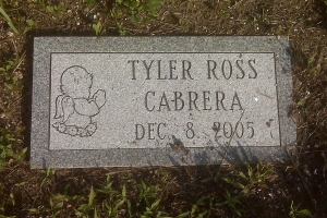 Cabrera-infant-grass-marker
