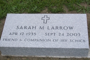 Larrow-gravestone