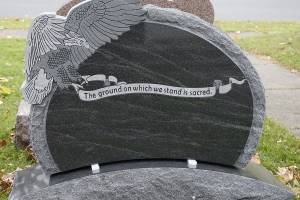 special shape - eagle - grave stone