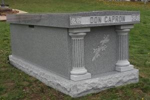 Capron single crypt mausoleum.jpg
