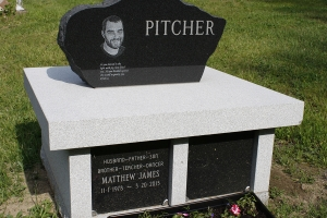 Pitcher Black Gray Bench Cremation.jpg