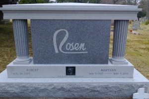 Rosen Gray Special Shape Upright for Cremation.JPG