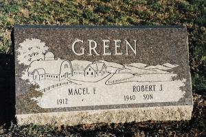 Green-slant-marker