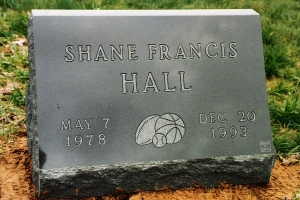 Hall-granite-cemetery-marker
