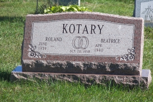 Kotary-slant-on-base-gravemarker