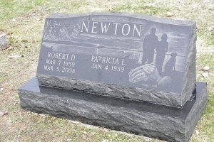 Newton-black-slant-on-base-with-etching