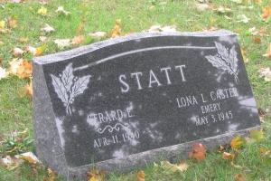 Statt-granite-slant-marker