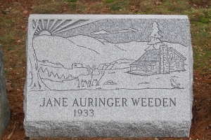 Weeden-granite-gravemarker