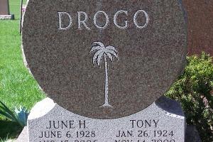 Custom shaped Drogo monument.JPG