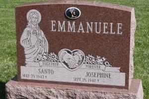 Emmanuele Red Upright Ceramic Religious.jpg