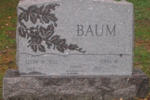 Baum-upright-memorial
