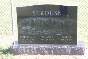 Strouse-three-person-upright-memorial
