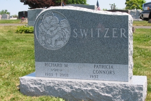 Switzer gravemarker with special shape.JPG